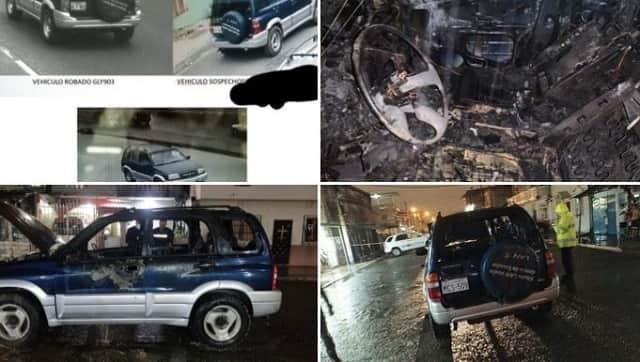 vehículo utilizado para matar a Efraín Ruales