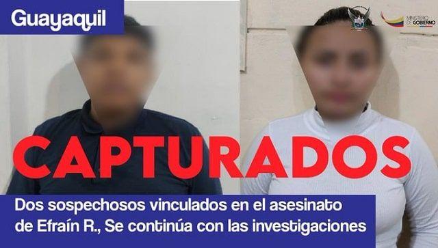 sospechosos del asesinato a Efraín Ruales