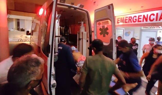 herido de bala en Calceta