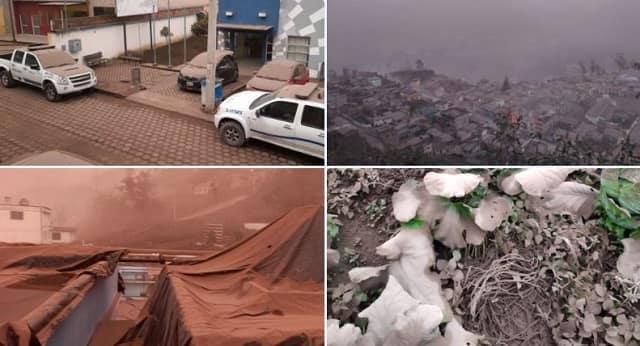 caída de ceniza del volcán Sangay