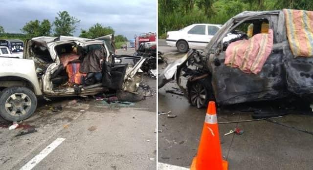 imágenes del accidente vial en Quinindé