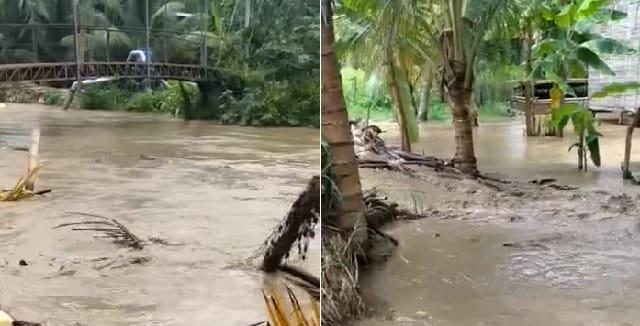 inundaciones en zonas bajas de Rocafuerte