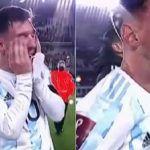 Messi llora de emoción en el Argentina-Bolivia tras batir récord de Pelé (+videos)