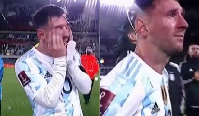 Messi llora de emoción